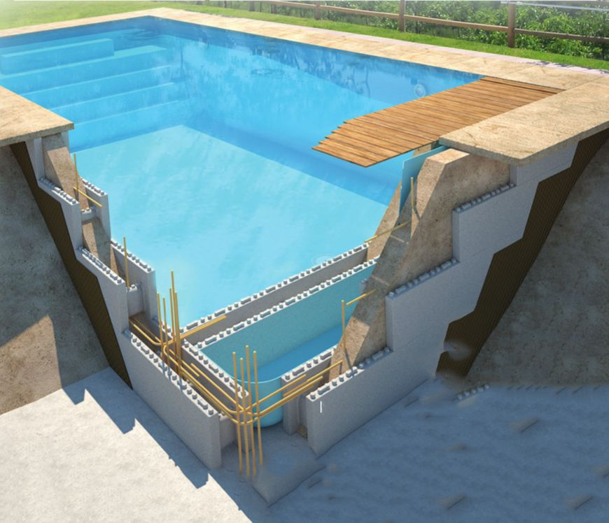 Design piscine for Piscine beton banche